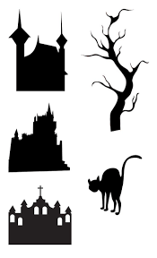 Halloween Bat Cutouts by 39 Best Silhouette Halloween Images On Pinterest Silhouette