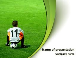 little football player powerpoint template backgrounds 07351
