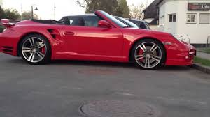 red porsche convertible porsche 911 turbo cabrio in red youtube
