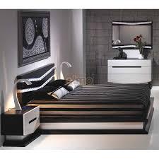 chambre adulte noir chambre adulte laque blanc noir éclairage par leds meubles elmo