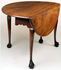 Narrow Drop Leaf Table Chippendale Ball And Claw Foot Dropleaf Table With Round Leaves