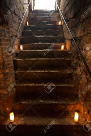 Stone Stairs Minecraft by Spooky Dungeon Stone Stairs In Old Castle Stock Photo Picture And