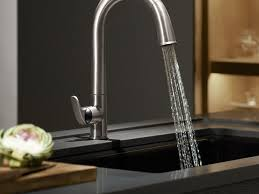 Kohler Brushed Nickel Kitchen Faucet Sink U0026 Faucet Small Remodeling Ideas And Brushed Nickel Pull Out