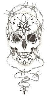 sugar skull tattoo design by charlie megalomad on deviantart
