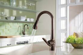 moen kitchen faucets rubbed bronze pull kitchen faucet rubbed bronze dans design magz