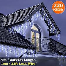icicle lights 220 led blue white indoor outdoor lights