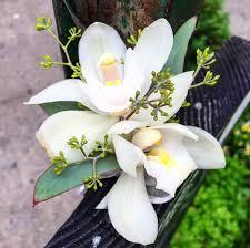 Orchid Boutonniere White Orchid Boutonniere With Eucalyptus Seeds U2013 Joy U0027s Flower Pot