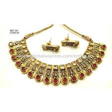 gold plated necklace set images India gold plated necklaces jewelry sets from asansol manufacturer jpg