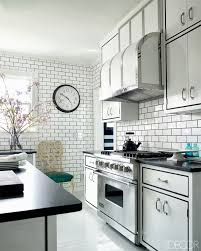 kitchen fascinating black and white kitchen tiles design ideas