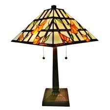 amora lighting 21 in tiffany style multicolored mission table