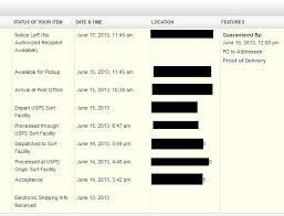 usps gets express mail package to post office at 11 45 says