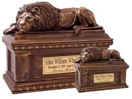 cremation boxes lion statue cremation box bronze urns memorial gallery
