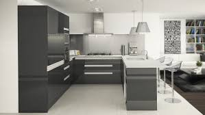 kitchen design gallery jacksonville kitchen u shape kitchen in high gloss gunmental with integrated