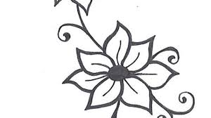 vine drawing designs roses with tribal design by