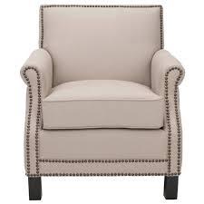 linen club chair safavieh easton taupe java linen club arm chair mcr4572b the