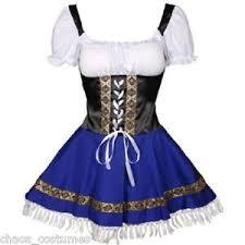 Halloween Costumes Xxxl Blue Swedish Oktoberfest Beer Maid Wench Dress Halloween