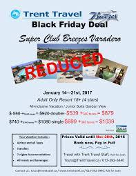 best black friday travel deals all inclusive 2017 super club breezes black friday deal