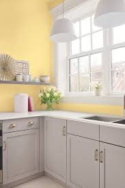 white kitchen cabinets yellow walls 25 bright grey and yellow kitchen decor ideas digsdigs