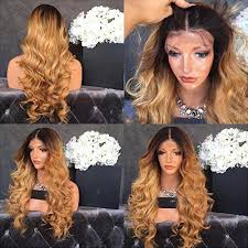 body wave hair with bangs seleonhair ombre body wave lace front wigs with baby hair no shedding