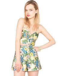 matching set floral brocade matching set tropical print and top 65