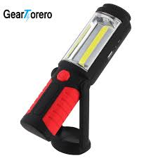 rechargeable magnetic work light portable cob led flashlight magnetic work light rechargeable 360