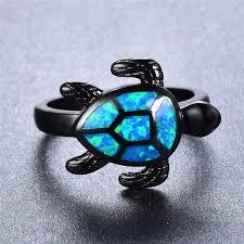 opal rings unique images Unique turtle blue fire opal rings blenfy store jpg