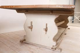 trestle base dining table long gustavian style farm house dining table with trestle base