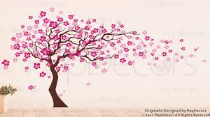 black and purple bedroom decor blossom cherry decal tree japanese