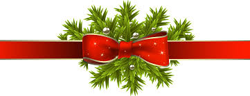 christmas ribbon christmas ribbon with pine branches png clipart image