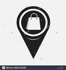 Map Pin Map Pin Pointer Sale Shopping Bag Icon Stock Vector Art