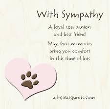 pet condolence quotes quotesgram card pet sympathy
