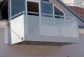 balkon lochblech geländer produkte der firma schinnerl metallbau aus tulln