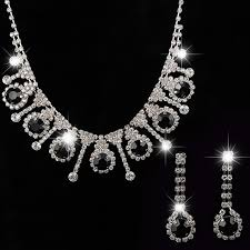 black necklace sets images Yfjewe 2017 african beads jewelry sets silver plated black crystal jpg