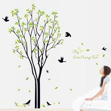 100 120cm decals home decor art removable huge birds sing on the