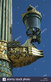 ornamental lighting stand with ls and bird at place de la
