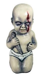 evil scary creepy baby holding a knife 12 u0026 034 tall prop