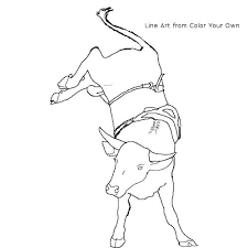 bucking bull coloring learning support resources