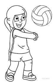 volleyball coloring taylor