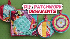 diy fabric patchwork ornaments sews