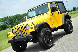 old yellow jeep davis autosports 2001 jeep wrangler sport tj lifted u0026 modified low