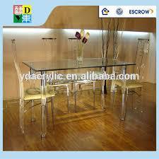 table avec 4 chaises amaizing personnalisé acrylique set de table avec 4 chaises