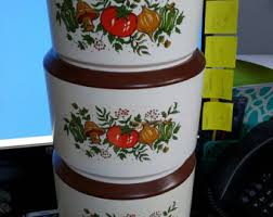 vintage kitchen canister set vintage kitchen canisters etsy