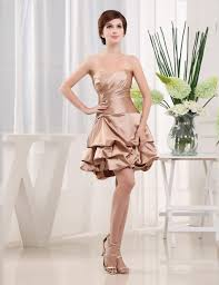 online get cheap knee length satin bridesmaid plus size dress