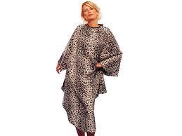 robe de chambre leopard peignoir coiffure pas cher cape coiffure textile coiffure