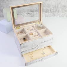 personalized wooden jewelry box jewellery box drawers chest of drawers