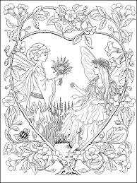 fairies coloring book samples ruth sanderson coloriages