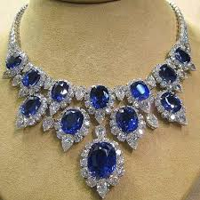 diamond necklace with sapphire images Best 25 blue sapphire necklace ideas sapphire jpg