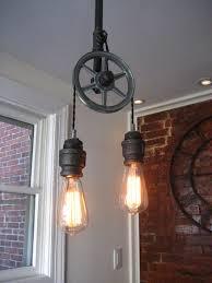 Steunk Light Fixtures Crafty Ideas Pulley Light Fixtures Interesting Design Diy Pendant