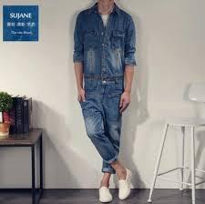 mens one jumpsuit 2017 s clothing slim jumpsuit denim trousers