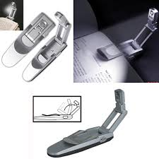 clip on reading light for bed robotic foldable mini led clip on reading light bed night l